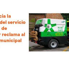 Ciutadans Rubí denuncia la situación del servicio municipal de limpieza y reclama al gobierno municipal que actúe